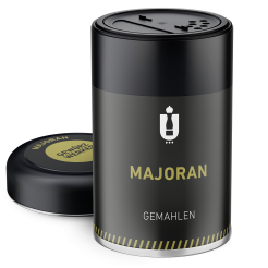 Packaging: Majoran, gemahlen