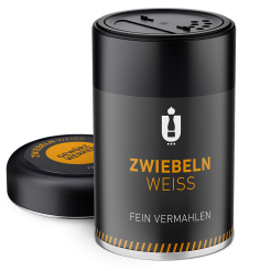 Packaging: Zwiebelpulver, weiß